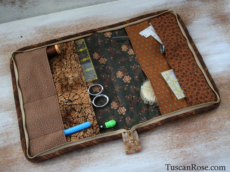 Zippered sewing portfolio case (2)