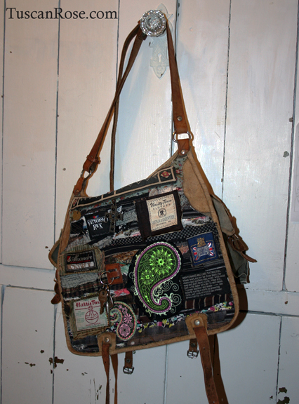 Famous label altered military bag (5)