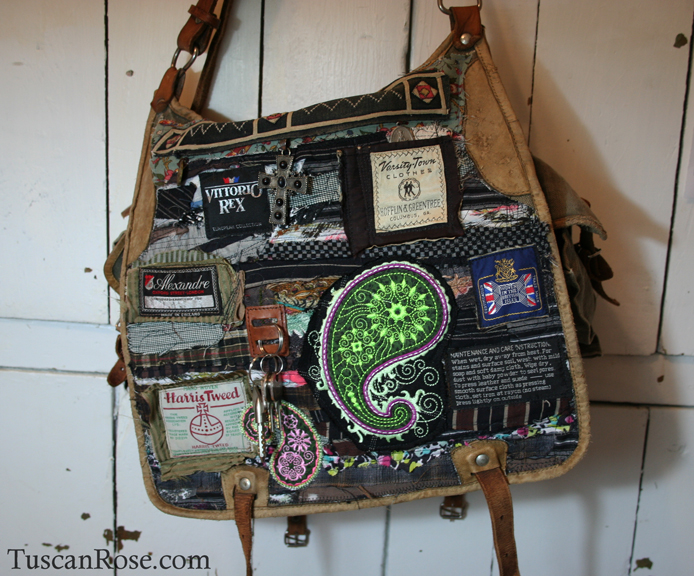 Famous label altered military bag (3)