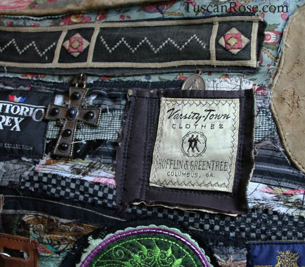 Famous label altered military bag (1)