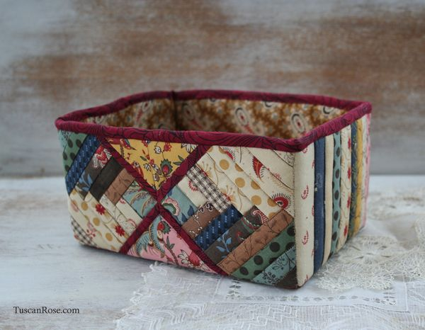 Log cabin quilt box moda fabric jelly roll
