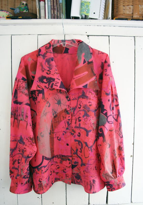 Graffiti blouse vogue 8119 imagine (2)