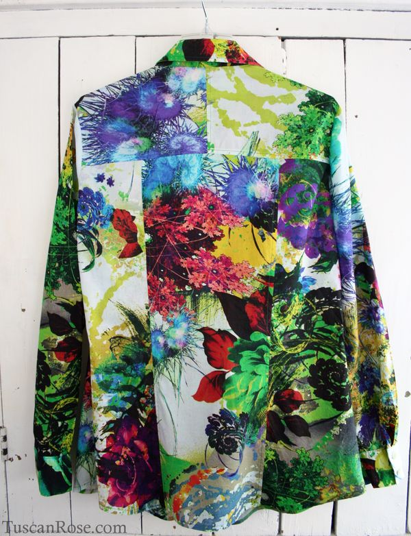Digital print blouse back