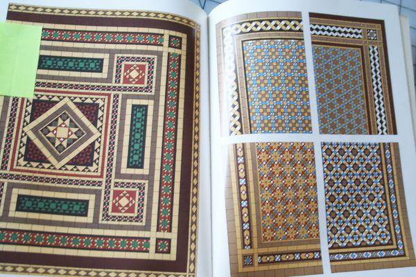 Tile design book for quilt