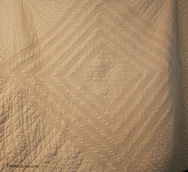 Vintage modern quilt back detail