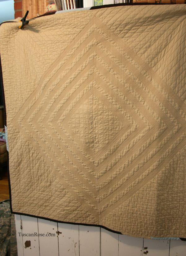 Vintage modern quilt back