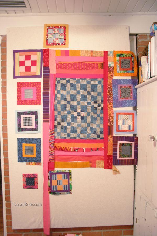 Orphan improv quilt