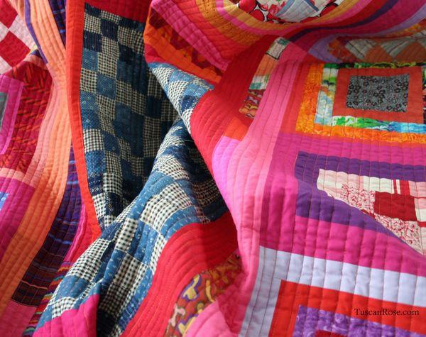 Pink June Quilt detail