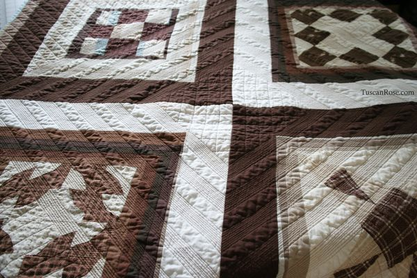 Vintage modern quilt