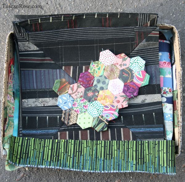Fragments art quilt