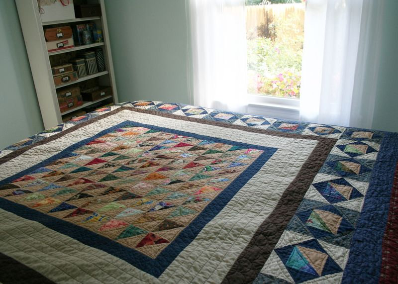 Finished half square triangle quilt a