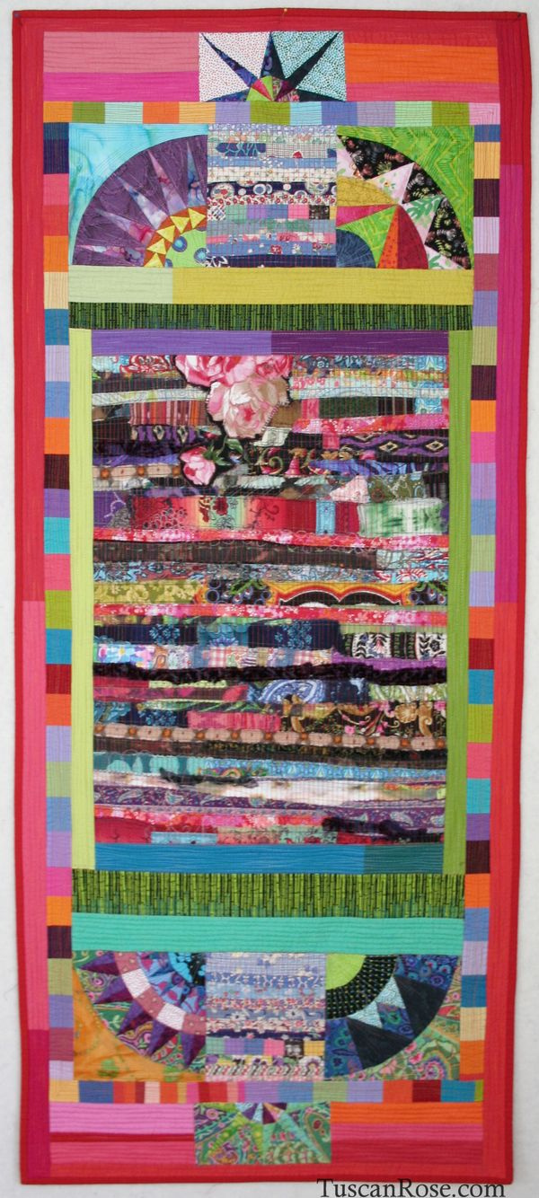 Walking the scotties in central park art quilt  (1)