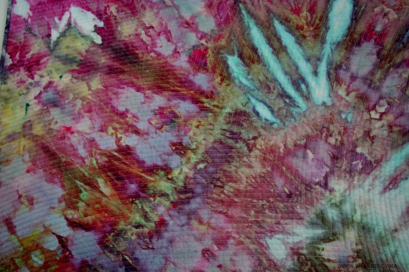 Tuscan rose hand dyed fabric quilt (1)