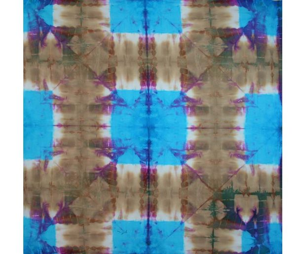 Santa Fe Modern Shibori Fabric Tuscan Rose