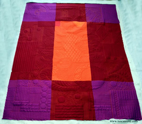Amish doodle modern quilt free motin quilting a