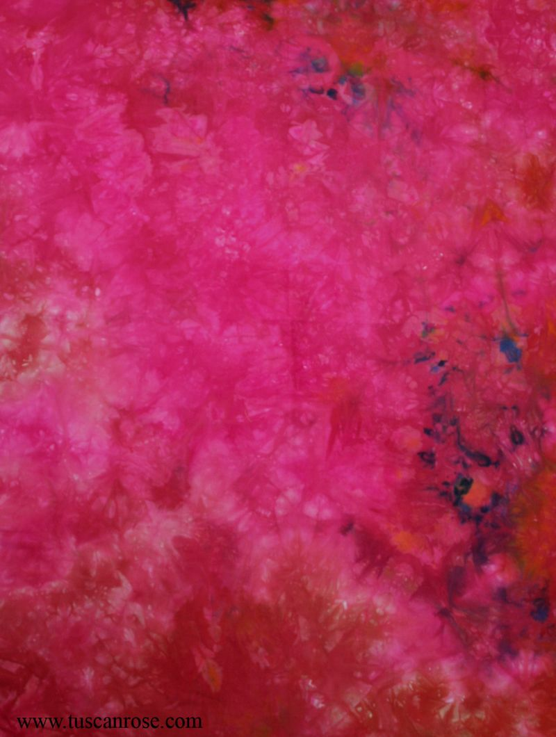 Hand dyed fabric tuscan rose d