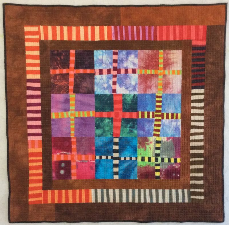 Shibor Window Tuscan Rose hand dyed fabric quilt