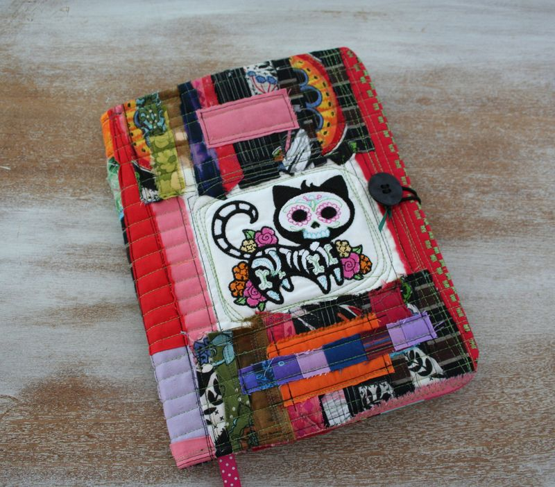Cat Day of the dead composition book cover